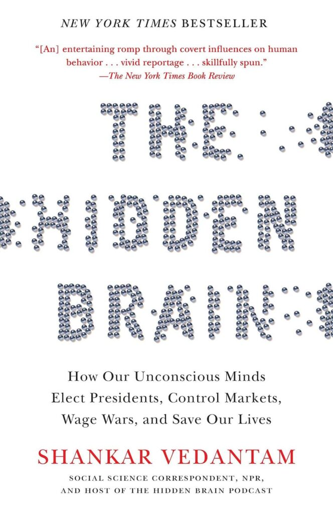 Cover of the book Hidden Brain by Shankar Vedantam.